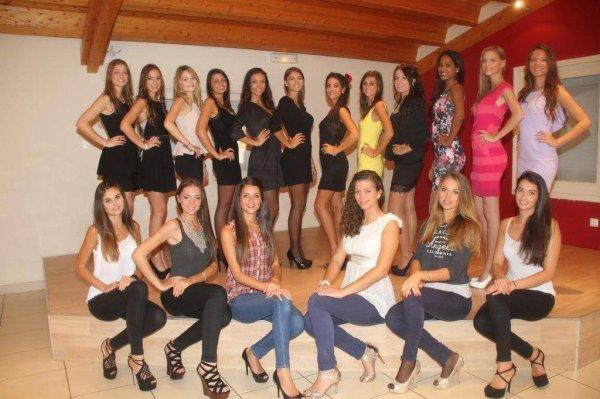 Candidates Miss Rhône-Alpes 2014