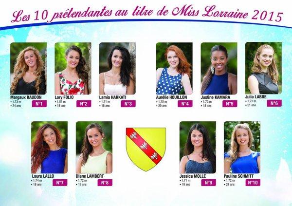 Candidates Miss Lorraine 2015