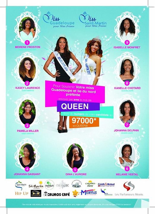 Candidates Miss Guadeloupe & Île du Nord 2015
