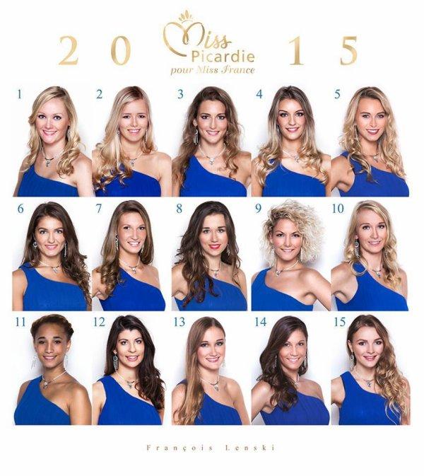 Candidates Miss Picardie 2015