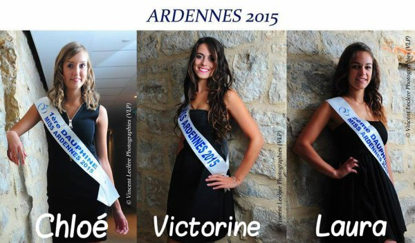 Candidates Miss Champagne Ardenne 2015