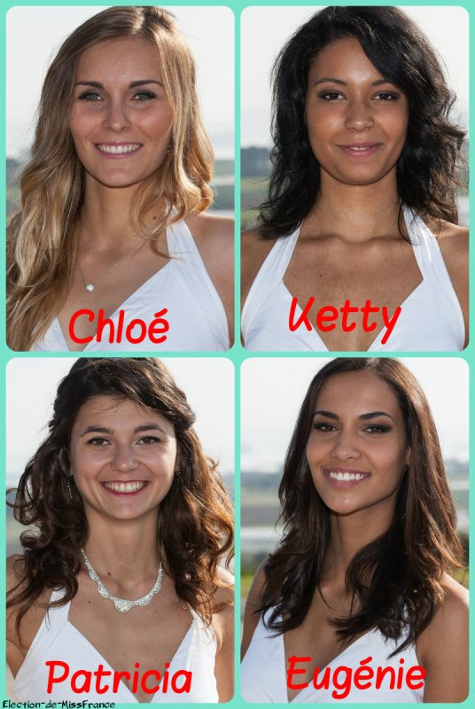 Candidates Miss Bretagne 2015