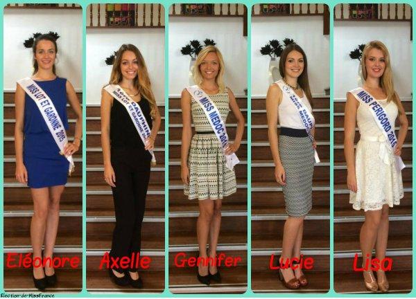 Candidates Miss Aquitaine 2015