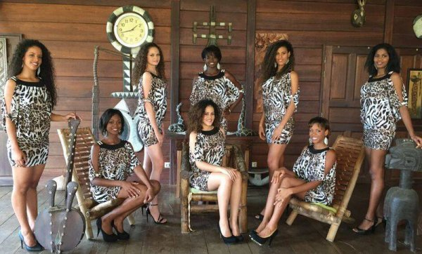 Candidates Miss Guyane 2015