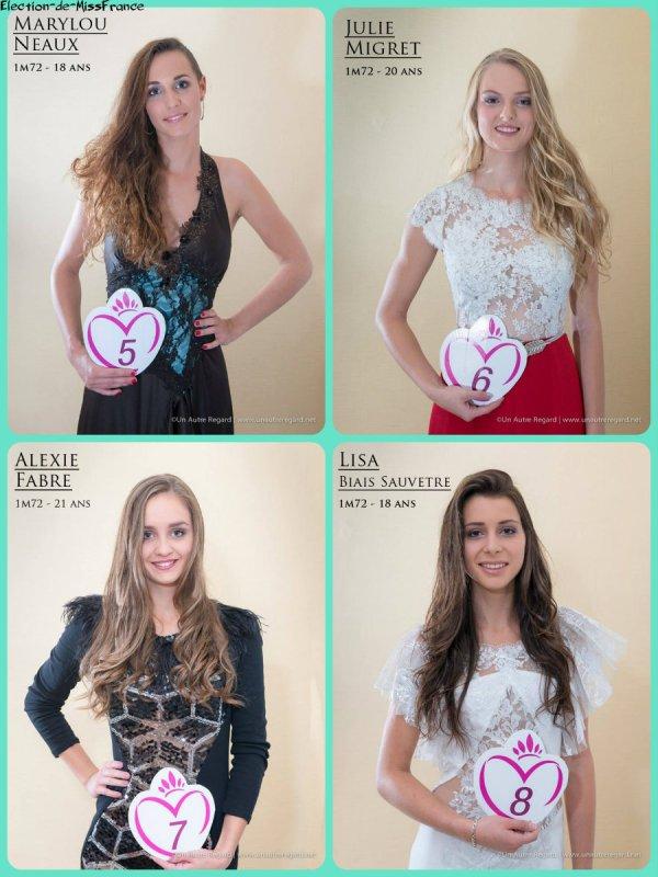 Candidates Miss Poitou-Charentes 2015