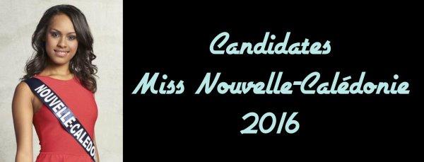 Candidates Miss Nouvelle-Calédonie 2016