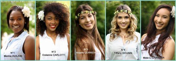 Candidates Miss Île-de-France 2016