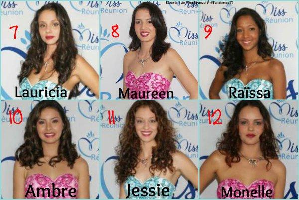 Candidates Miss Réunion 2016