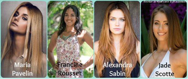 Candidates Miss Côte d'Azur 2016