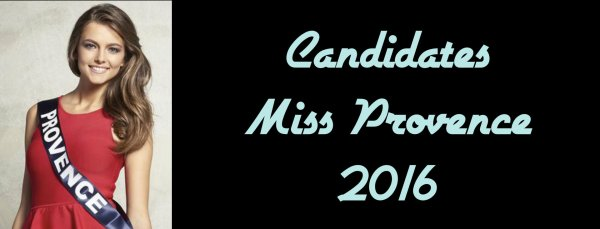 Candidates Miss Provence 2016