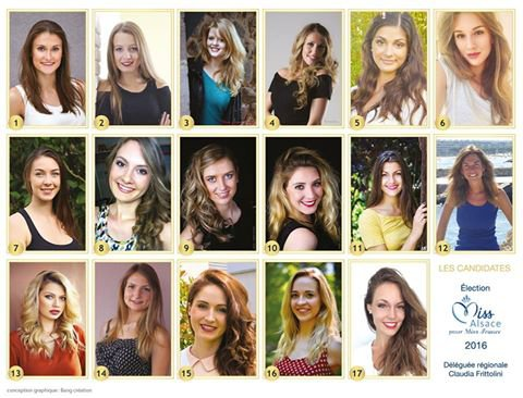 Candidates Miss Alsace 2016