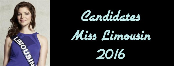 Candidates Miss Limousin 2016