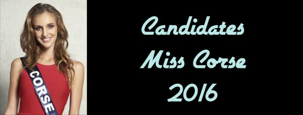 Candidates Miss Corse 2016