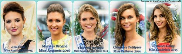 Candidates Miss Nord-Pas-de-Calais 2016