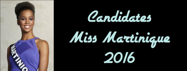 Candidates Miss Martinique 2016