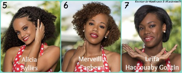 Candidates Miss Guyane 2016