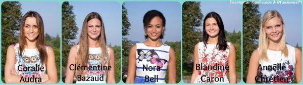 Candidates Miss Normandie 2016