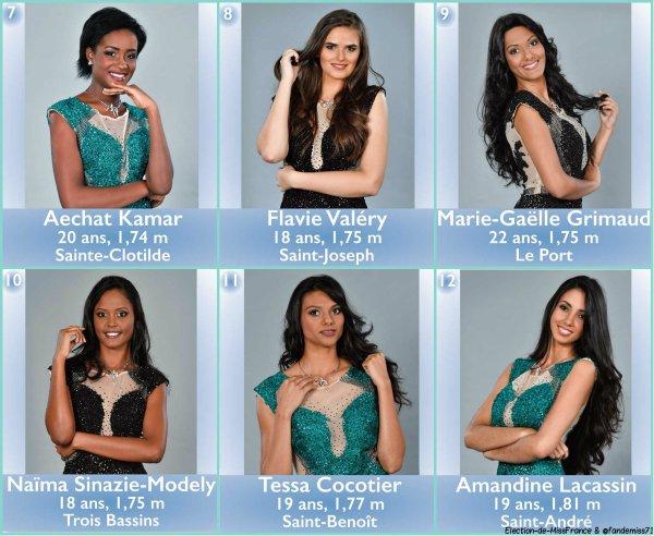 Candidates Miss Réunion 2017