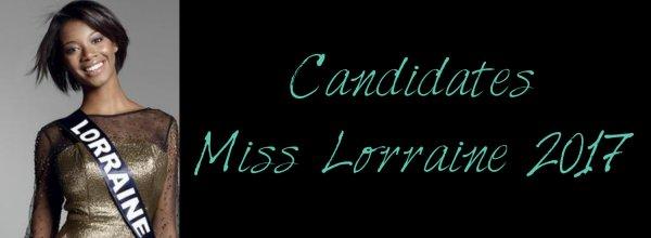Candidates Miss Lorraine 2017