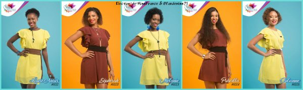 Candidates Miss Martinique 2017