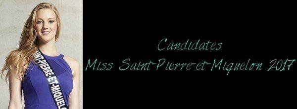 Candidates Miss Saint-Pierre-et-Miquelon 2017