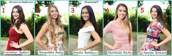 Candidates Miss Bourgogne 2017