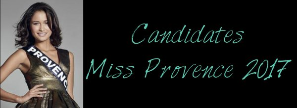 Candidates Miss Provence 2017