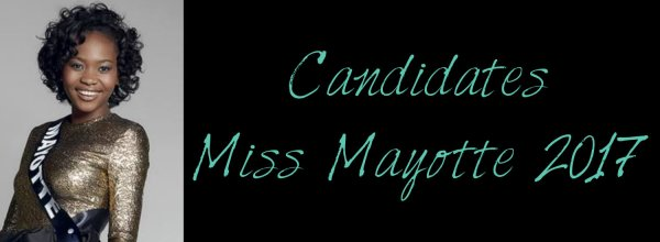Candidates Miss Mayotte 2017