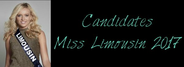 Candidates Miss Limousin 2017