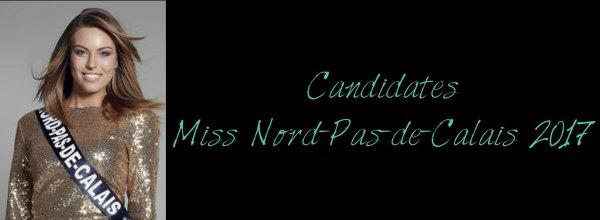 Candidates Miss Nord-Pas-de-Calais 2017