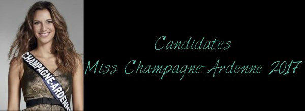 Candidates Miss Champagne-Ardenne 2017