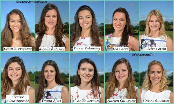 Candidates Miss Pays de Loire 2017