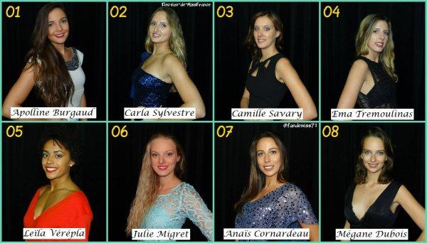 Candidates Miss Poitou-Charentes 2017