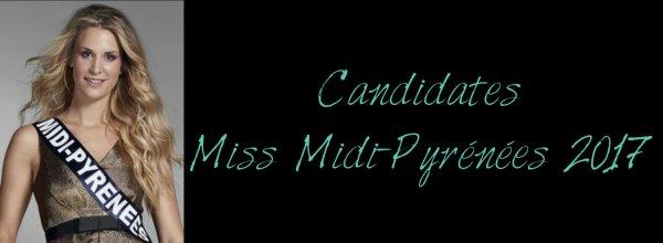 Candidates Miss Midi-Pyrénées 2017