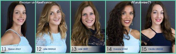 Candidates Miss Picardie 2017