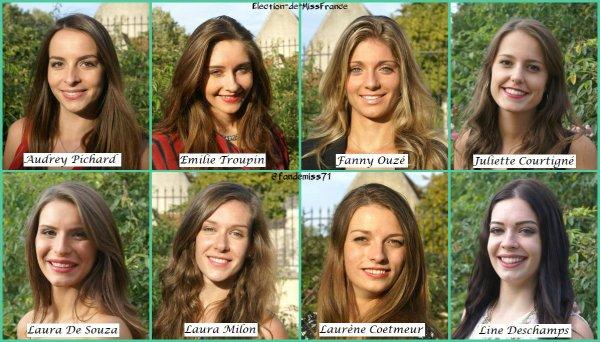 Candidates Miss Centre-Val de Loire 2017