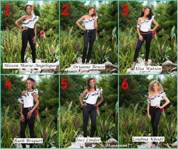 Candidates Miss Guyane 2017