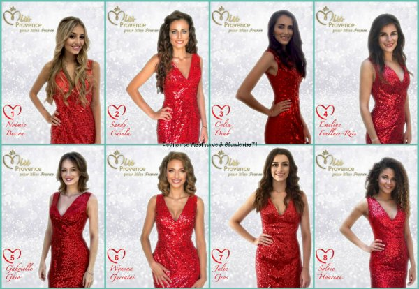 Candidates Miss Provence 2018
