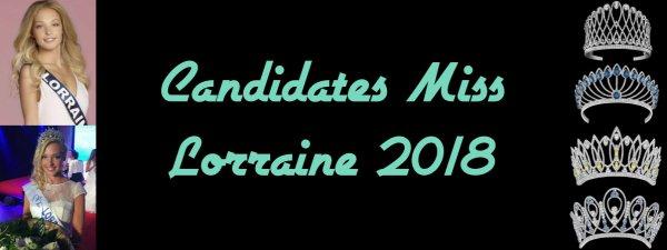 Candidates Miss Lorraine 2018