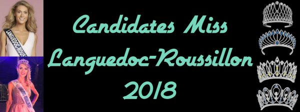 Candidates Miss Languedoc-Roussillon 2018