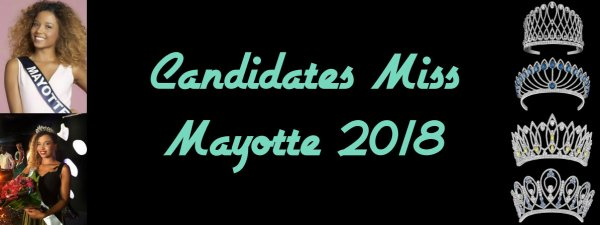 Candidates Miss Mayotte 2018