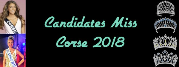 Candidates Miss Corse 2018