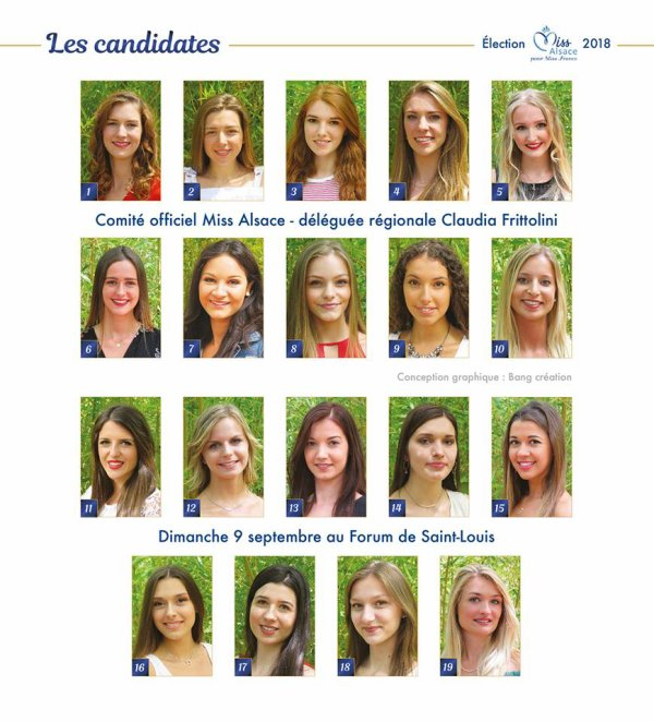 Candidates Miss Alsace 2018
