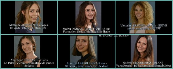 Candidates Miss Limousin 2018