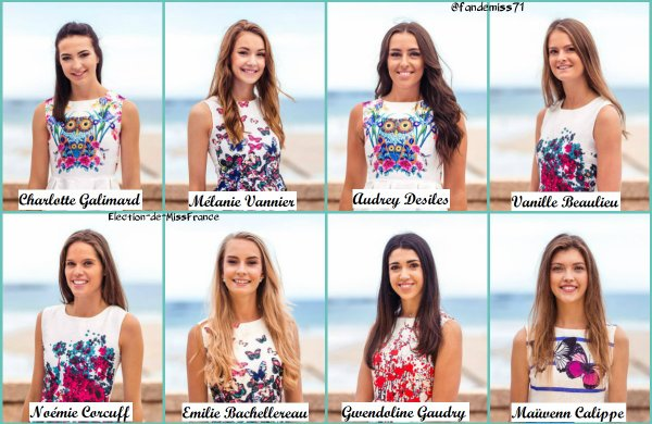 Candidates Miss Bretagne 2018