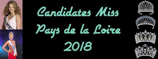 Candidates Miss Pays de la Loire 2018