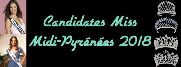 Candidates Miss Midi-Pyrénées 2018