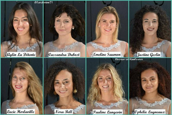 Candidates Miss Normandie 2018