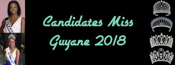 Candidates Miss Guyane 2018