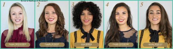 Candidates Miss Picardie 2018